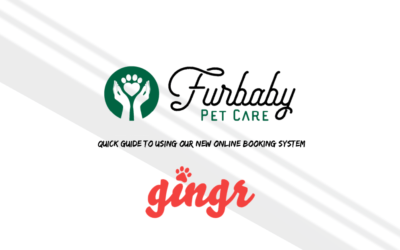 Furbaby Pet Care's guide to using the Gingr online booking system